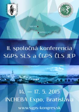 PONUKA spolupráce - II. spoločná konferencia SGPS SLS a ČGPS