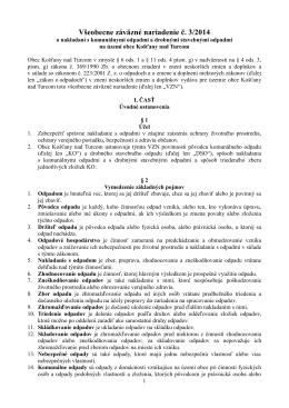 VZN č. 3/2014 - Košťany nad Turcom