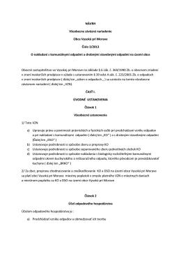 Návrh VZN o nakladaní s KO a DSO 2013