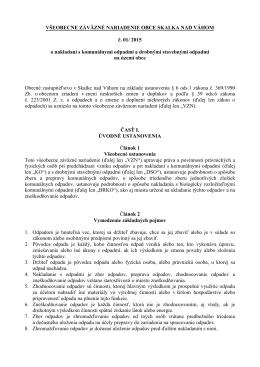 NÁVRH VZN 1-2015.pdf - Obec Skalka nad Váhom