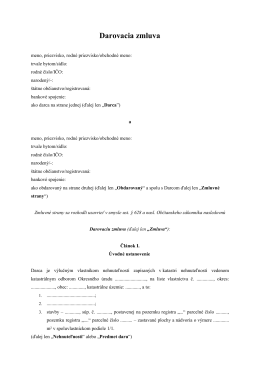 Darovacia zmluva na nehnuteľnosť (pdf)