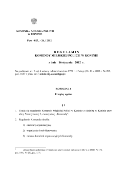 Statut Szkoły - Gimnazjum nr 6 w Koninie