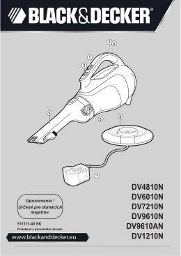 DV4810N DV6010N DV7210N DV9610N DV9610AN DV1210N