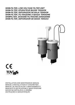 SKIM-FILTER, LOW VOLTAGE FILTER UNIT