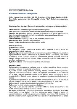 Ošetrovateľský štandard č