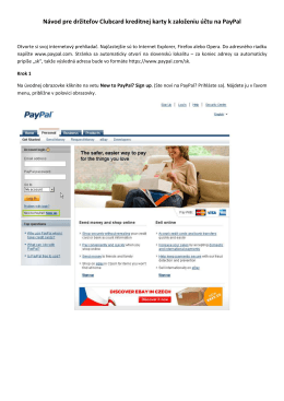 Registrácia na PayPal účtu