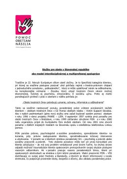 Služby pre obete v Slovenskej republike