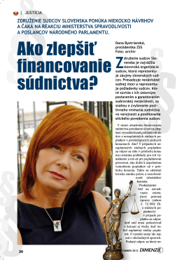 stiahnuť - Združenie sudcov Slovenska