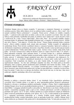 FARSKÝ LIST - Obecný úrad Ľubotice