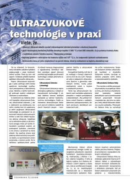 Ultrazvukové čistenie a zváranie