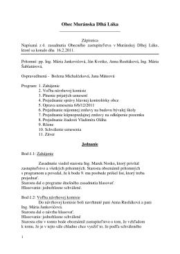 3. zasadnutie OZ - 16. 2. 2011