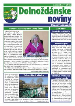 Dolnoždánske noviny november/2010