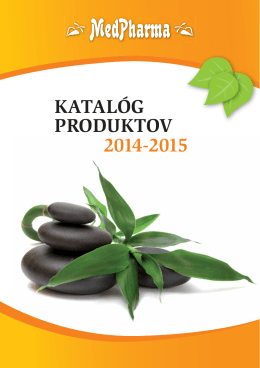 KATALÓG PRODUKTOV 2014-2015