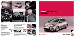 Katalóg Renault Twingo II Limitovaná edícia Miss Sixty v