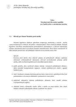 Komisia_proti_násiliu - JUDr. Mária RITOMSKÁ