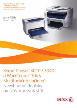 Tlačiareň Phaser® 3010 / 3040 a WorkCentre™ 3045