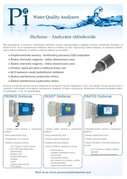 DioSense – Analyzátor chlórdioxidu