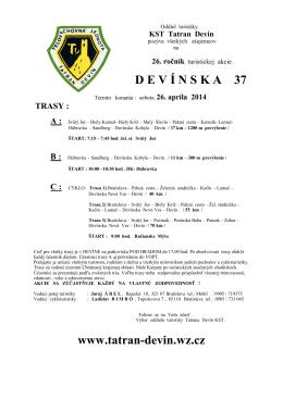 D E V Í N S K A  37 www.tatran-devin.wz.cz