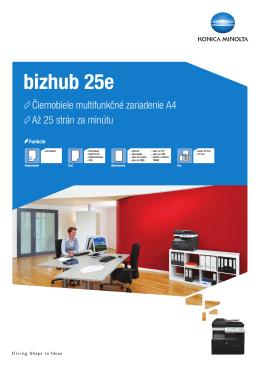 Prospekt k bizhub 25e, PDF