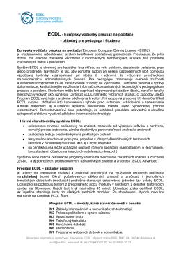 ECDL - Európsky vodičský preukaz na počítače - užitočný