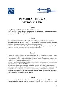 Pravidlá - PDF - mitropa cup 2014