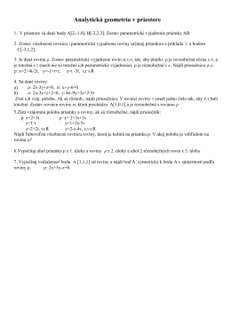 Analytická geometria v priestore (pdf)