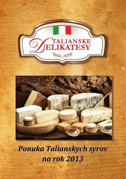 Syry - talianskedelikatesy.sk
