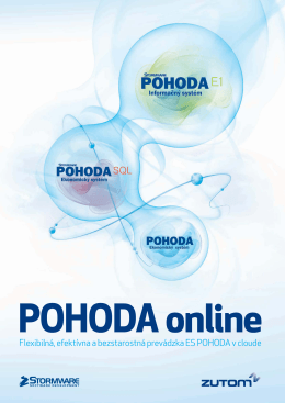leták POHODA online