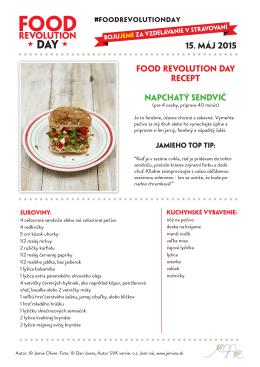 Recept na stiahnutie (PDF) - FOOD REVOLUTION DAY SLOVAKIA