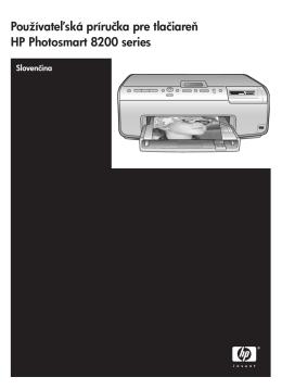 Používateľská príručka pre tlačiareň HP Photosmart 8200 series