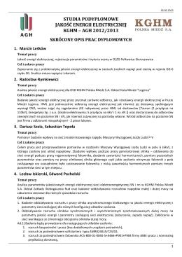 Plan Pracy Hufca na rok harcerski 2011-2012