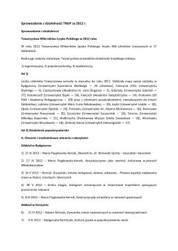 tematy na ustny egzamin maturalny z języka polskiego w roku 2013