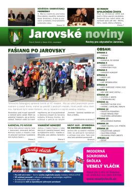 Jarovské noviny - jarovskenoviny.sk