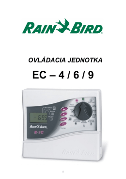 4 / 6 / 9 manuál - Rain Bird Slovensko