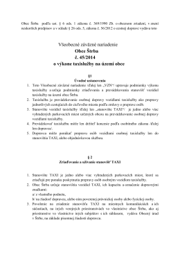 Všeobecné záväzné nariadenie Obce Štrba č. 45/2014 o výkone