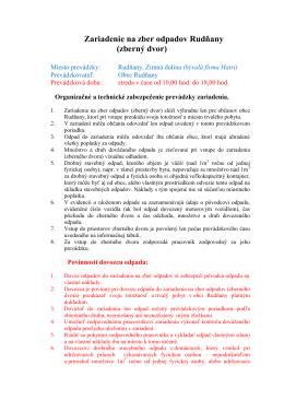 Zariadenie na zber odpadov Rudňany (zberný dvor)