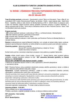 dňa 28. februára 2015 - KST Lokomotíva Banská Bystrica