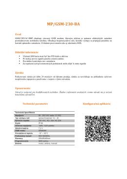 MP/GSM-230-BA