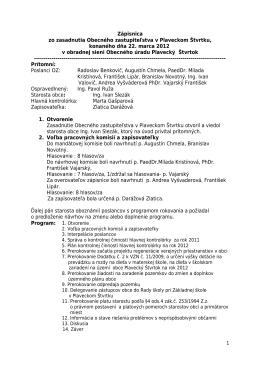 Zápisnica 22. 3. 2012 - Obec Plavecký Štvrtok