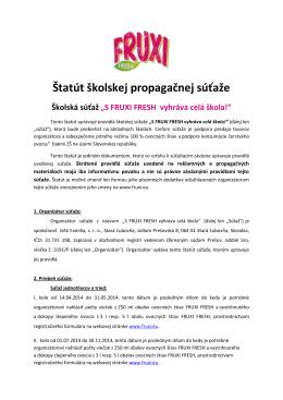 Štatút školskej propagačnej súťaže [ pdf | 515 KB ]