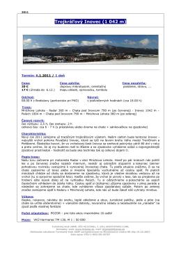 Trojkráľový Inovec (1 042 m)
