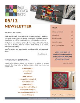PPM Newsletter - Květen 2012