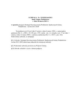 Program konferencji szkoleniowej : Hazard patologiczny