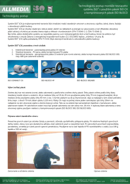 Technologický postup montáže tesniaceho systému