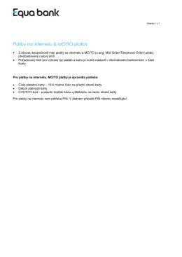Platby na internetu & MO/TO platby
