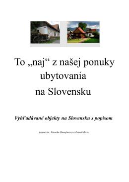 """To """"naj"""" - Slovenskedovolenky.sk"""