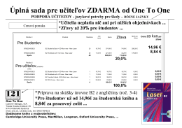 Cenová ponuka B2 - Ľubomír Balogač One To One