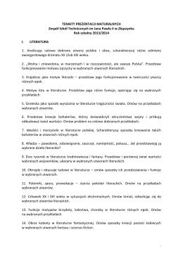 KONKURSY W RAMACH OBCHODÓW DNI PATRONA Konkurs