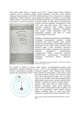 Mikuláš Koperník - astronómia pred ním a po ňom