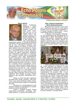 Kurytyba, styczeń - kwiecień 2015, nr 1-2(33-34)